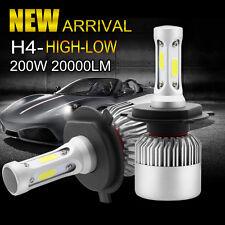 200W CREE 20000LM H4 9003 LED Headlight Kit Bulbs Replacement 6000K White Xenon