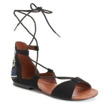 NEW WITH BOX Mudd Women's Gladiator Ghillie Sandals Size 8 Black