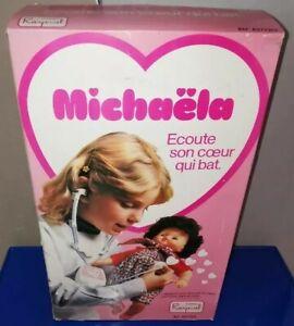 Poupée poupon 40 cm MICHAELA écoute son cœur qui bat - RAYNAL an 60-70 - NEUF