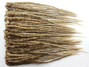 Medium Brown & Blonde Crochet Dreads, SE & DE Dread 20 Inches Natural Realistic