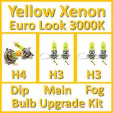 Warm White 3000K Yellow Xenon Headlight Bulb Set Main Dip Fog H4 H3 H3 Kit