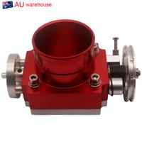 "2.75"" 70MM Throttle Body Intake Manifold Billet Aluminum High Flow Red Universal"