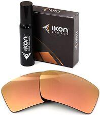 Polarized IKON Iridium Replacement Lenses For Oakley Eyepatch 2 Rose Gold Mirror