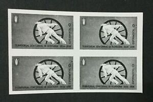 1954 US Scott #TD100 Mint-NH USPS Nebraska Centennial Experimental Test Pane