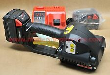 """*NEW* FROMM P-329 5/8"""" 3/4"""" full kit 18V battery strapping tool orgapack signode"""