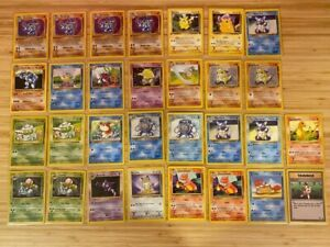 Pokemon cards lot (30) 1999