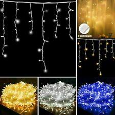 LED Lichterkette Eisregen Außen ...