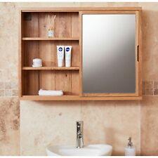 Conran Solid Oak Bathroom Furniture Mirrored Wall Shelf Cabinet Unit