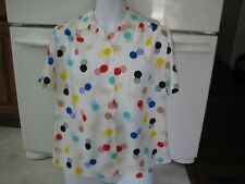 Polka Dot atomic  retro vintage 1960s  top blouse shirt  dry cleaned perfect