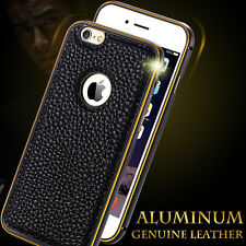 Ultra thin Leather Hard Back Bumper Case Cover For iPhone 5 5S 6 & 6 Plus 6S 6S+