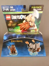 New Lego Dimensions 71220 Lord Of The Rings Gimli & Axe Chariot 56 pc NIB Set
