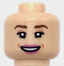 Lego New Light Flesh Minifig Head Female Reddish Brown Eyebrows Girl