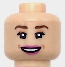 Lego New Light Flesh Minifig Head Female Reddish Brown Eyebrows Girl