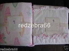 Pottery Barn Kids Pink Ruffle Dot Full Duvet Pacific Suf Sheet Set 5-PC NEW Girl