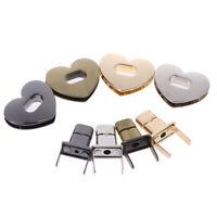 Heart Shape Clasp Metal Hardware For DIY Handbag Bag Turn Lock Twist LoDD
