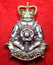 Yorkshire By-Metal Cap Badge  with Slider Post 1960