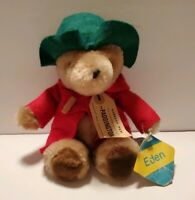 Vintage Paddington BEAR Plush Stuffed Animal Red  Coat Green Hat EDEN 1981