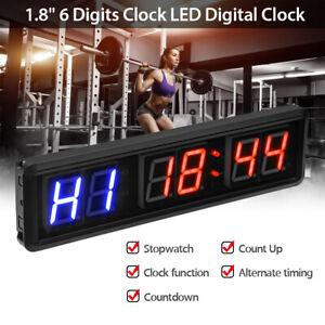 1.8'' Programmable Large Digital Interval Timer Gym Home Crossfit Fitness Clock~