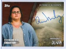 ANN MAHONEY as Olivia / Walking Dead Evolution BROWN Autograph A-ANM 88/99