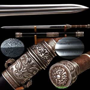 Highest Chun Jun Sword Hand Kobuse Jihada Forged Steel Silver Fittings #T120
