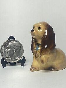 Vintage  Spaniel Puppy Dog Porcelain Miniature Dollhouse 1:12 Pets Animals