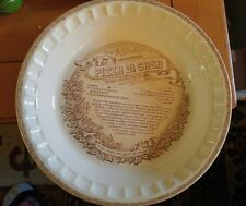 vintage Pizza Di Casa deep dish glass cooking bowl
