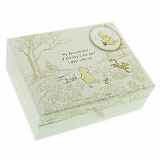 Baby Keep Sake Box 8 Compartments Disney Classic Pooh Engraved FOC D1167