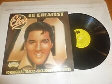 ELVIS PRESLEY - 40 Greatest Hits - 1975 UK 40-track double vinyl LP
