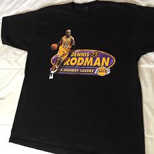 Rare 90's Los Angeles Lakers Dennis Rodman Men Black T-shirt Size S-4XL  KL999