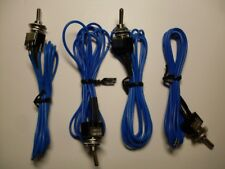 LOT(4) SPST Toggle Switches On/Off with leads & On/Off plate - NEW