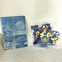 DISNEY WORLD 2000 CELEBRATE FUTURE HAND IN HAND BUTTON / PIN MAGNET LOT HAPPIEST