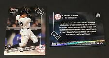 Aaron Judge 2017 Topps Now Youngest to 13 HR's #110 May 3 New York Yankees