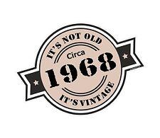 Non è vecchio intorno al 1968 ROSETTA Emblema PER CASCO DA MOTO AUTO ADESIVO VINILE