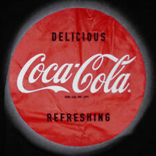 Coca Cola T-Shirt Small Delicious Refreshing Coke Soda Pop Advertising Black