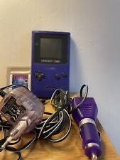 Nintendo Game Boy Color Set - Lila - Spiele Pinocchio, Tetris, Maus - Stromkabel