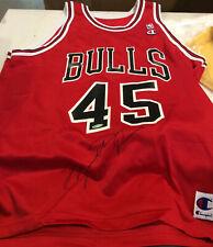 Michael Jordan Signed Jersey - Champion #45 Upper Deck coa