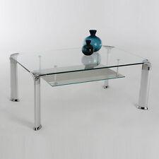 Couchtisch DAVO Glastisch Glas Silber Beistelltisch Wohnzimmertisch Tisch