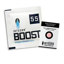 INTEGRA BOOST  5 PACKS OF 4g 55% - 2 WAY HUMIDITY CONTROL - TOBACCO HERB BOVEDA