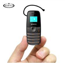 "Smallest SERVO S09 Mini Cell Phone 0.66"" Tiny Screen Bluetooth Dialer Dual SIM"