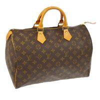 AUTHENTIC LOUIS VUITTON SPEEDY 35 HAND BAG MONOGRAM M41524 VINTAGE RK13571j