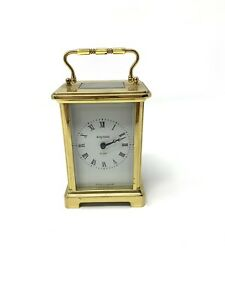 Brilliant Antique Vintage French Bayard 8 Day Manual Wind Carriage Clock #1358