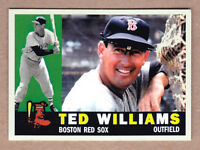 Ted Williams '60 Boston Red Sox custom card by Bob Lemke '60 style #573 🔥