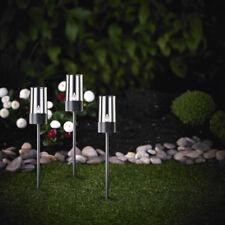 3er Set Solarleuchte Solar Fackel LED Gartenleuchte Ambiente Anthrazit SO37-1