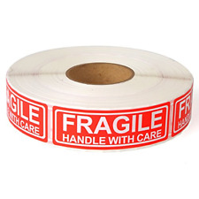 Fragile 1x3 Handle With Care Shipping Stickers 1000 Labels Per Roll