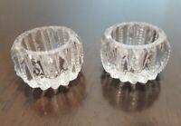 VintageCut Glass Crystal Salt Cellar Dip Caviar Dishes Round Braid & Star Base