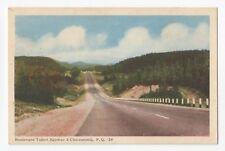 Boulevard Talbot de QUEBEC à  CHICOUTIMI QC Canada 1940s PECO Postcard