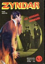 Roman Photo petit format - ZYNDAR n° 9 : LES CERVAUX INHUMAINS - 1968