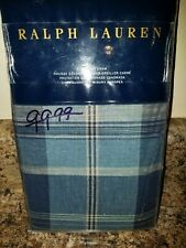Ralph Lauren Artisan Loft Jasper Plaid Pillow Sham  EURO  Blue
