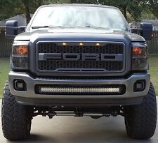 11-16 Ford F250 F350 F-250 F-350 Super Duty Raptor Style Matte Dark Grey Grille