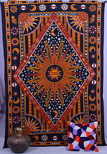 Psychedelic Wall Hanging Sun Tapestries Hippie Tapestry Sun and Moon Dorm Decor